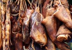 Fortfarande kött och korv royaltyfri fotografi