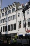 FORTFARANDE KONSTRUKTION PÅ ILLUM BOLIGHUS Royaltyfri Bild