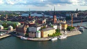 Fortfarande panorama av Stockholm, Sverige arkivfilmer