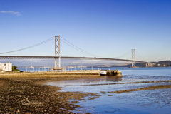 Forth Bridge. At South Queensferry Scotland Stock Images