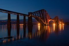 Forth Bridge at Edinburgh Stock Images