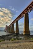 The Forth Bridge, Edinburgh, Scotland - panorama. The Forth Bridge, Edinburgh, Scotland Royalty Free Stock Photo