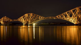 The Forth Bridge, Edinburgh, Scotland - panorama Royalty Free Stock Images
