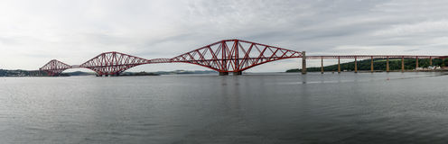 The Forth Bridge, Edinburgh, Scotland - panorama Stock Photo