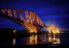 Forth Bridge Edinburgh United Kingdom. Taken in 2015 taken in HDR Stock Photos
