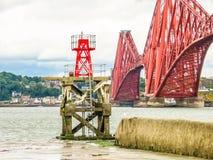 Forth Bridge and Firth of Forth. Edinburgh, Scotland, UK Stock Images