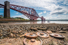 Forth Bridge from North Queensferry Royalty Free Stock Images
