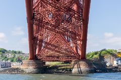 Forth Bridge over Firth of Forth near Queensferry in Scotland royalty free stock image