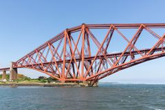 Forth Bridge over Firth of Forth near Queensferry in Scotland stock image