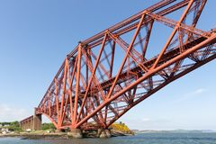 Forth Bridge over Firth of Forth near Queensferry in Scotland royalty free stock photography