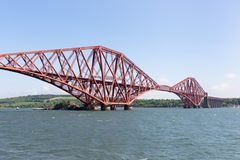 Forth Bridge over Firth of Forth near Queensferry in Scotland stock photography