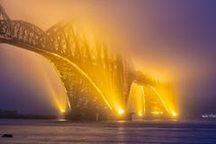 Forth Bridge over Firth of Forth near Queensferry in Scotland Stock Photo