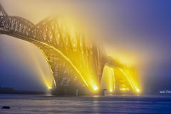 Free Forth Bridge Over Firth Of Forth Near Queensferry In Scotland Stock Photos - 132352363