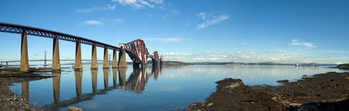 Forth Bridge Panorama Royalty Free Stock Photos
