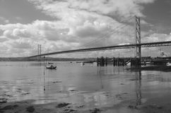 Forth Bridge Reflection. A view of the Forth road bridge from North Queensferry Royalty Free Stock Image