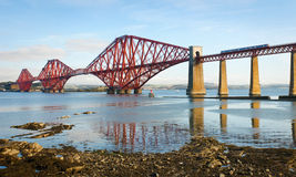 Forth Bridge in Scotland Royalty Free Stock Photos