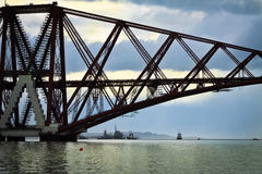 The Forth Bridge, South Queensferry royalty free stock image