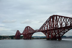 Forth Bridge, South Queensferry, Scotland. Forth Bridge in South Queensferry, Scotland Stock Photo