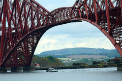Forth Bridge, South Queensferry, Scotland. Forth Bridge in South Queensferry, Scotland Royalty Free Stock Photos