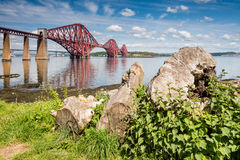 Forth Bridge on a sunny day Royalty Free Stock Image