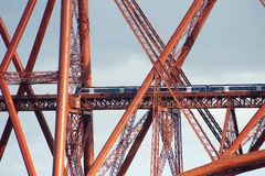 Forth bridge train Royalty Free Stock Photo