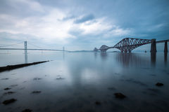 Forth bridges in Scotland Royalty Free Stock Photo