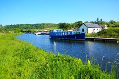 Forth and Clyde canal in Scotland. In spring Stock Photos