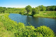 Forth and Clyde Canal in Scotland. Forth and Clyde Canal in springtime in Scotland Royalty Free Stock Image