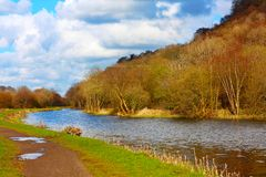 Forth and Clyde Canal in Springtime Stock Photo
