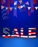 4 Forth of July banner text sale template scene stage podium background  Stock Photography