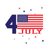 Forth of july concept. Independence day with usa flag Royalty Free Stock Photos