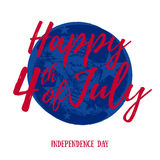 Forth July Independence day background design. Stock Images