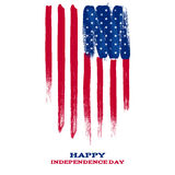 Forth July Independence day background design. Stock Photos