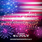 Forth July Independence day background design. Royalty Free Stock Photos