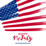Forth July Independence day background design. Royalty Free Stock Images