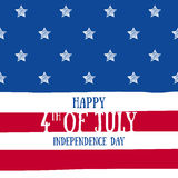 Forth July Independence day background design. Stock Photo