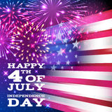 Forth July Independence day background design. Royalty Free Stock Image
