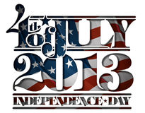 Forth of July 2013 Independence Day Cut-Out Stock Photo