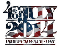 Forth of July 2014 Independence Day Cut-Out Stock Photography