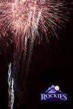 Forth of July inside Colorado Rockies Stadium Stock Photos