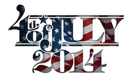 Forth of July 2014 Lettering Cut-Out Royalty Free Stock Image