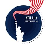 Forth of July, United States of America independence day poster. Forth of July, United States of America independence day. Design element template can be used Royalty Free Illustration
