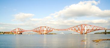 Forth Rail Bridge. A picture of the Forth Rail Bridge from South Queensferry, Scotland royalty free stock photos