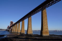 Forth Rail Bridge. View of the Forth Rail Bridge in Edinburgh, Scotland stock photo