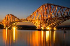 The Forth rail bridge at dawn Stock Photos
