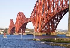 Forth Rail Bridge detail, in Edinburgh, Scotland royalty free stock photo