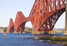 Forth Rail Bridge Detail, In Edinburgh, Scotland Royalty Free Stock Photo