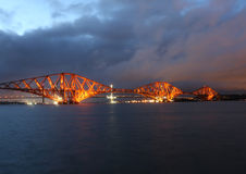 Forth Rail Bridge at dusk Stock Photography