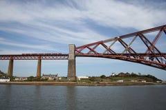 Forth Rail bridge, Edinburgh. Train crossing Forth rail bridge, Edinburgh Stock Photo