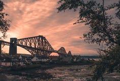 Forth Rail Bridge in Edinburgh Royalty Free Stock Photos